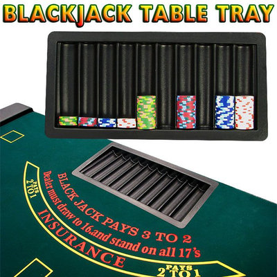 Trademark Global Games Trademark Global Blackjack Poker Table Tray