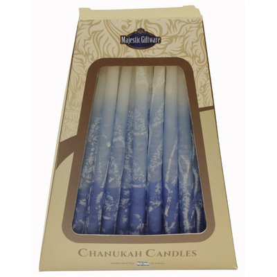 Artsy Casa Lamp Lighters Ultimate Judaica Safed Chanukah Candles - 45 Pack - Blue/White - 6