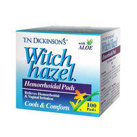 T.N. Dickinson's Witch Hazel Hemorrhoidal Pads