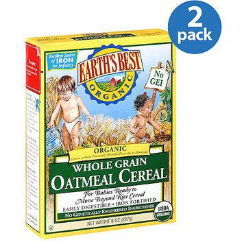 Earth's Best Organic: Whole Grain For Babies Ready to Move Beyond Rice Cereal Oatmeal Cereal