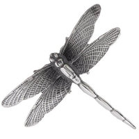 Silver Elegance Silver Moon BP36047 Dragonfly Brooch Pin
