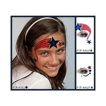 European Body Art Star & Stripes Face Paint Stencil Template Airbrush Halloween