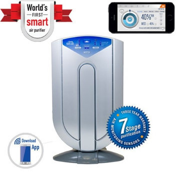 Heaven Fresh HF 707 Digital Ultrasonica Cool and Warm Mist Humidifier and Ionizer - Color Silver