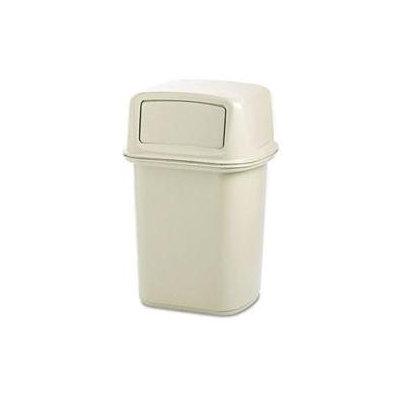 Rubbermaid Fg917188beig Waste Receptacle, hinged Door, beige,45g 3nb27