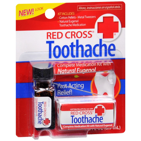 Red Cross Complete Medication Kit For Toothache - 1 Ea