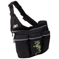 Diaper Dude Black Diaper Bag with Dragon