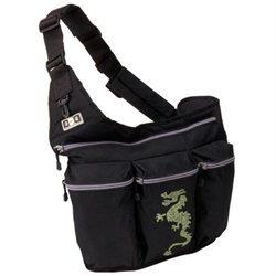 Diaper Dude Black Diaper Bag with Dragon