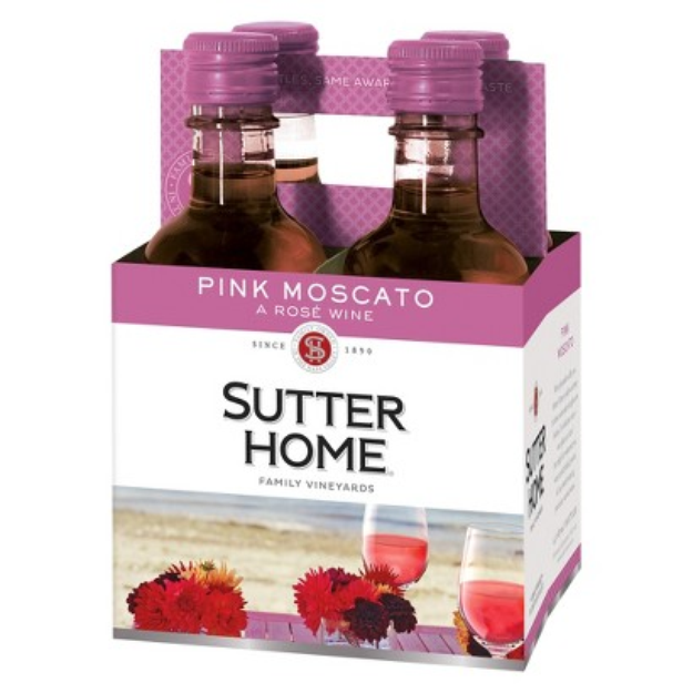 Sutter Home Pink Moscato Wine 187 ml, 4 pk