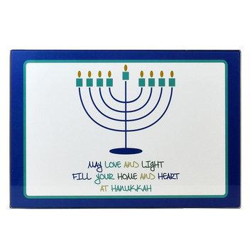 Celebrate Hanukkah Together Menorah Candle Drip Tray, Multicolor