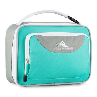 High Sierra Single Compartment Lunch Bag Aquamarine/Ash/White - High Sierra Travel Coolers