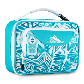 High Sierra Single Compartment Lunch Bag Teal Shibori/Tropic Teal/White - High Sierra Travel Coolers