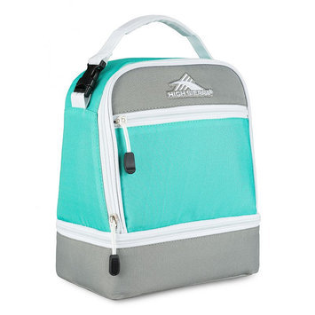 High Sierra Stacked Compartment Lunch Bag Aquamarine/Ash/White - High Sierra Travel Coolers