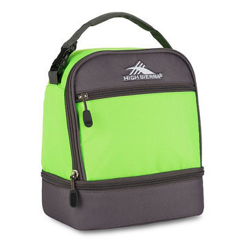 High Sierra Stacked Compartment Lunch Bag Lime/Slate - High Sierra Travel Coolers