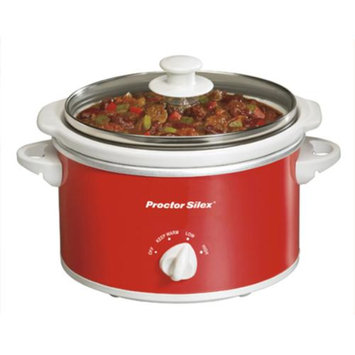 Proctor Silex Portable Oval Slow Cooker - Red (1.5 Quart)