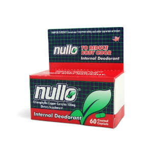 Nullo Internal Deodorant Tablets, Controls Body Odors - 60 Caplets