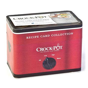 Crock-Pot Recipe Card Collection Tin, Red