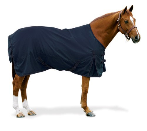 "Equiessentials 600D Turnout Sheet 75"" Navy"