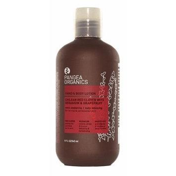 Pangea Organics Hand & Body Lotion, Chilean Red Clover With Geranium & Grapefruit, 8.5-Ounce Bottle