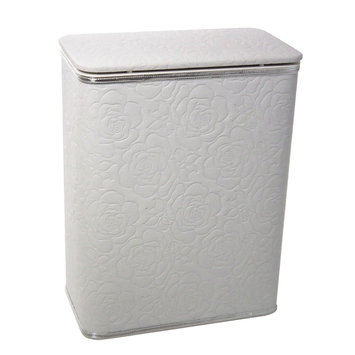 Redmon Traditional Times Quilted Rose Pattern Vinyl Hamper