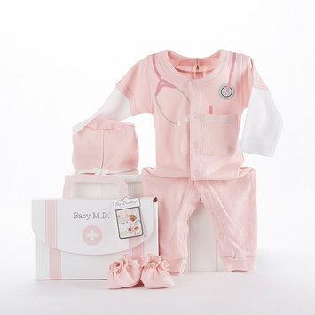 Baby Aspen Girls 3 Piece Big Dreamzzz Baby, M.D. Layette Set- Pink