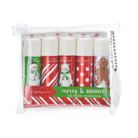 Simple Pleasures 5-pc. Candy Christmas Glitter Lip Balm Set, Ovrfl Oth