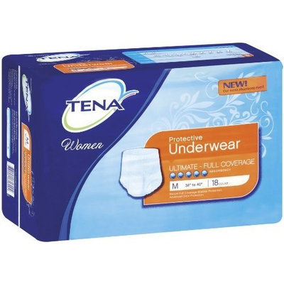 TENA Women's Protective Underwear, Ultimate Absorbency, Medium, 18 Count (Pack of 4)