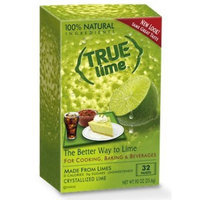 True Lemon True Lime Crystallized Lime Mix, 32 Packets, .91 Ounce Box (Pack of 12)