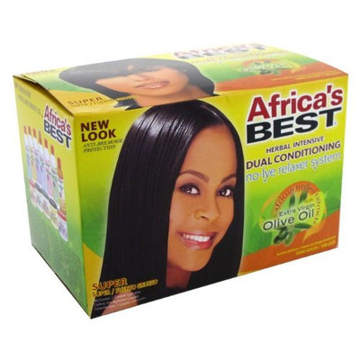 Africa's Best Africas Best Herbal Intensive Dual Conditioning No-Lye Relaxer System (Case of 6)