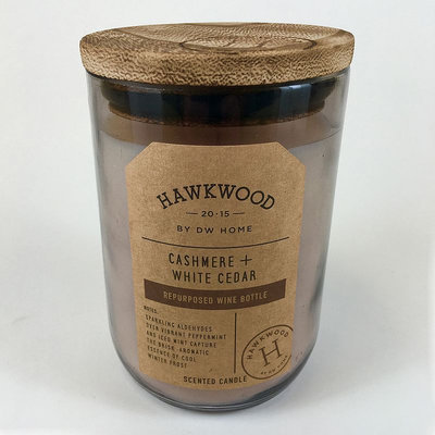 Hawkwood 13.9-oz. Cashmere & White Cedar Wine Candle Jar, Grey