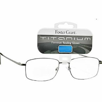 Designed for Men Magnivision By Foster Grant Titanium R Premium Reading Glasses 1.75