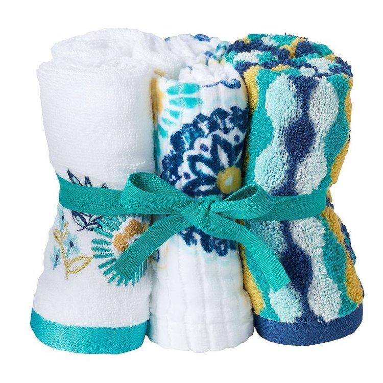 Azalea 6-pack Washcloth, Brt Blue