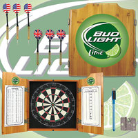 Trademark Commerce Trademark Bud Light Lime Dart Cabinet Includes Darts and Board