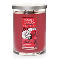 Yankee Candle simply home Cinnamon Pine 19-oz. Jar Candle, Red