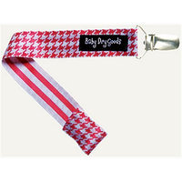 Baby Dry Goods 03017 RedWhite Houndstooth Pacifier Clip