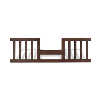 Foundations Worldwide Child Craft Abbott Wood Toddler Guard Rail with Walnut Finish