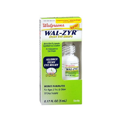 Walgreens Wal-Zyr Itchy Eye Drops