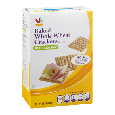 Ahold Baked Whole Wheat Crackers Reduced Fat