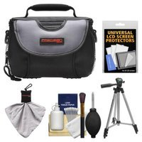 Precision Design PD-C15 Digital Camera Case with Tripod + Cleaning & Accessory Kit for Sony Alpha NEX-3, NEX-C3, NEX-5, NEX-5N, NEX-7 Digital Cameras