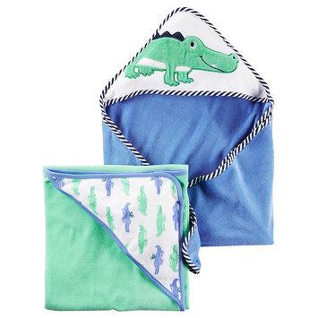 Carter's® Baby Boys 2-Pack Alligator Hooded Towels