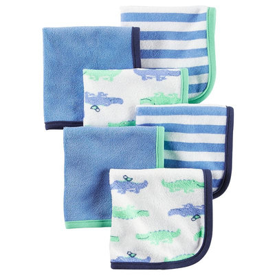 Carter's® Baby Boys 6-Pack Alligator Washcloths