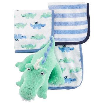 Carter's® Baby Boys Alligator Toy & Washcloth Set