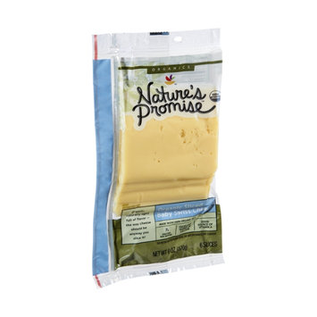 Nature's Promise Organics Sliced Baby Swiss Cheese - 6 CT