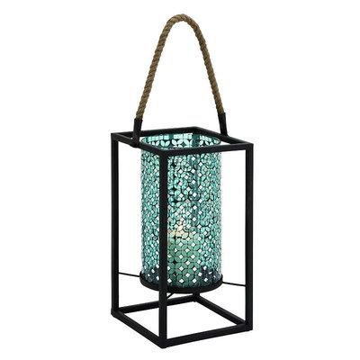 Uma Metal Turquoise Mosaic Lantern 8w, 24h