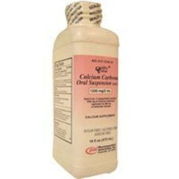 PHARMACEUTICAL ASSOC INC Calcium Carbonate Oral Suspension 1250mg/5 ml - 16 Oz.
