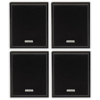 2 Pair of Acoustic Audio RWSP3 100 Watt Home Audio Bookshelf Stereo Speakers