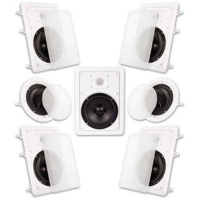 Acoustic Audio HT-67 1750 Watt 7.1CH In-Wall/Ceiling Home Theater Speaker System