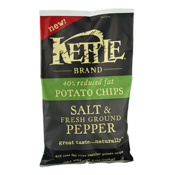 Kettle 40% Reduced Fat Salt & Fresh Ground Pepper Potato Chips