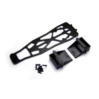 Alum Chassis, Black: Stampede