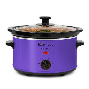 Elite Cuisine 2-qt. Oval Slow Cooker, Purple
