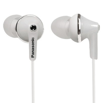 Panasonic ErgoFit Plus Long Port Fashion In-Ear Earbuds - White (RP-